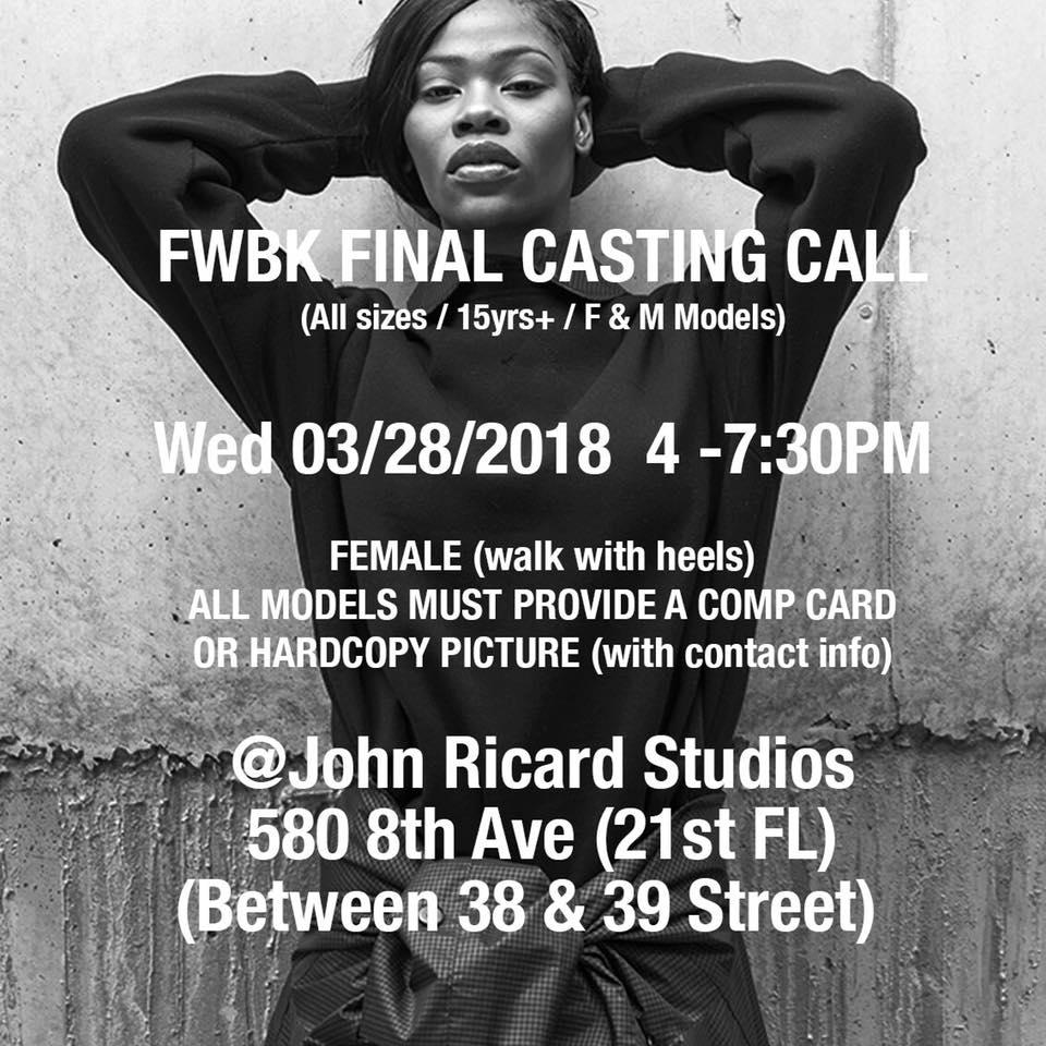 brooklyn fashion week casting call