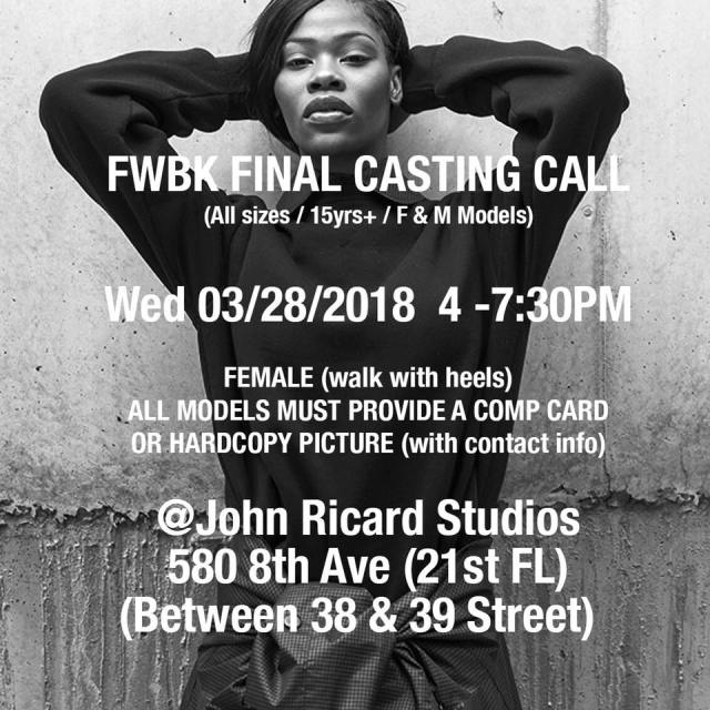 brooklyn fashion week casting call