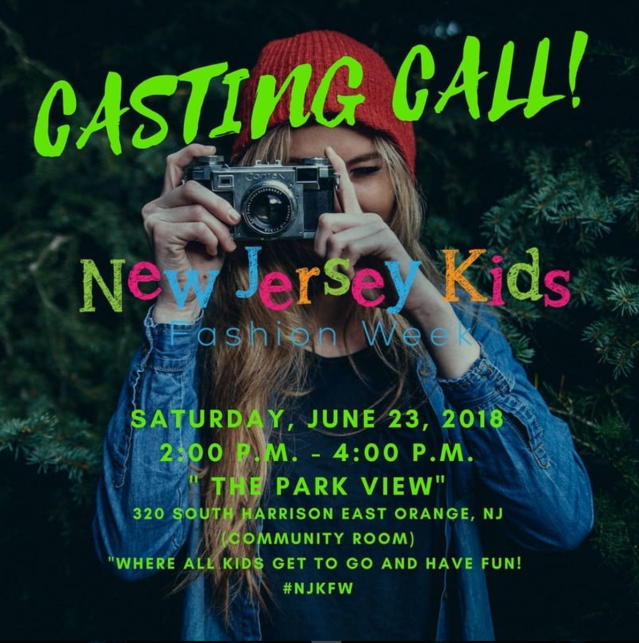 new jersey kids fashion week casting call
