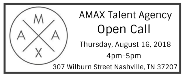 AMAX TALENT AGENCY OPEN CALL