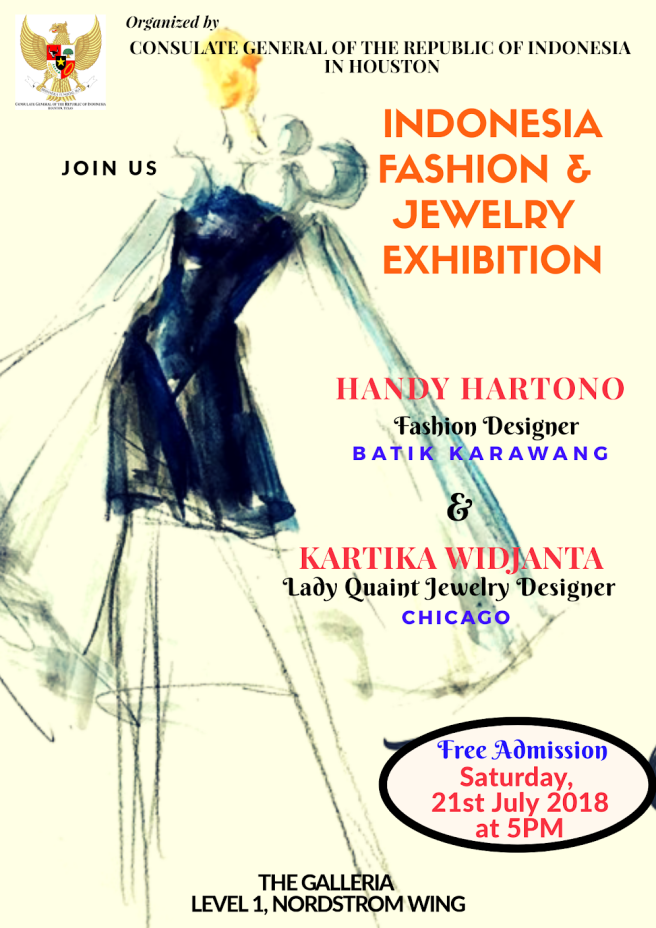 Indonesian Fashion Show Model call Houston