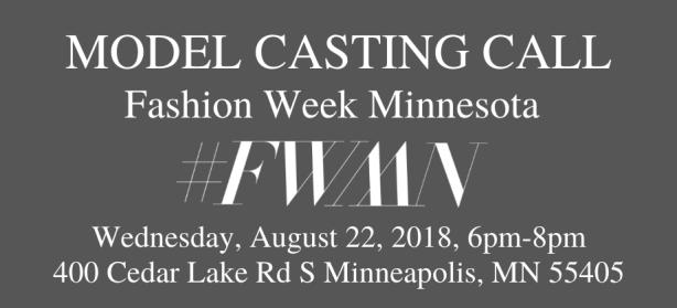 fashion week minnesota model casting call
