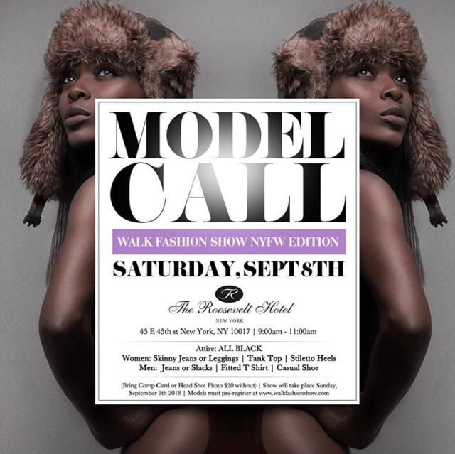 walk fashion show nyfw model casting call