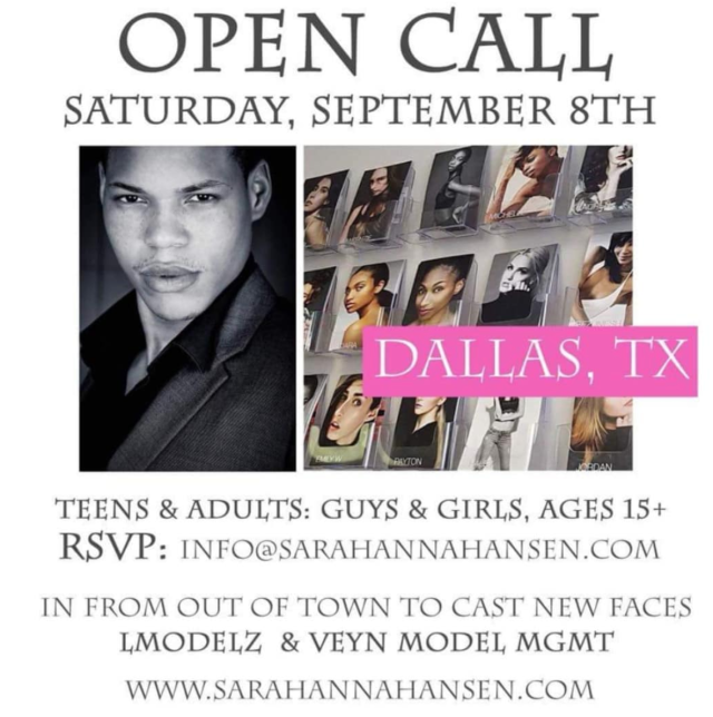 LMODELZ Open call dallas texas