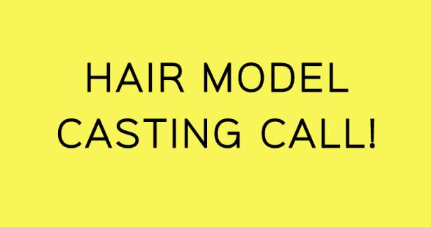 HAIR MODEL CASTING CALL