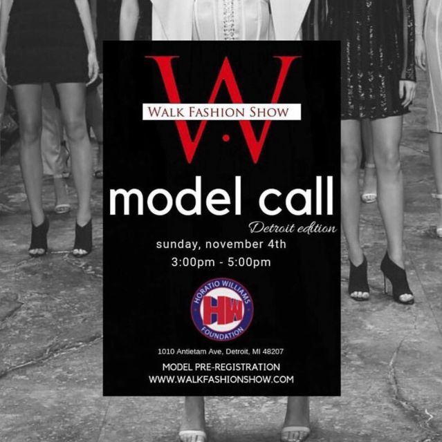 WALK FASHION SHOW MODEL CALL DETROIT