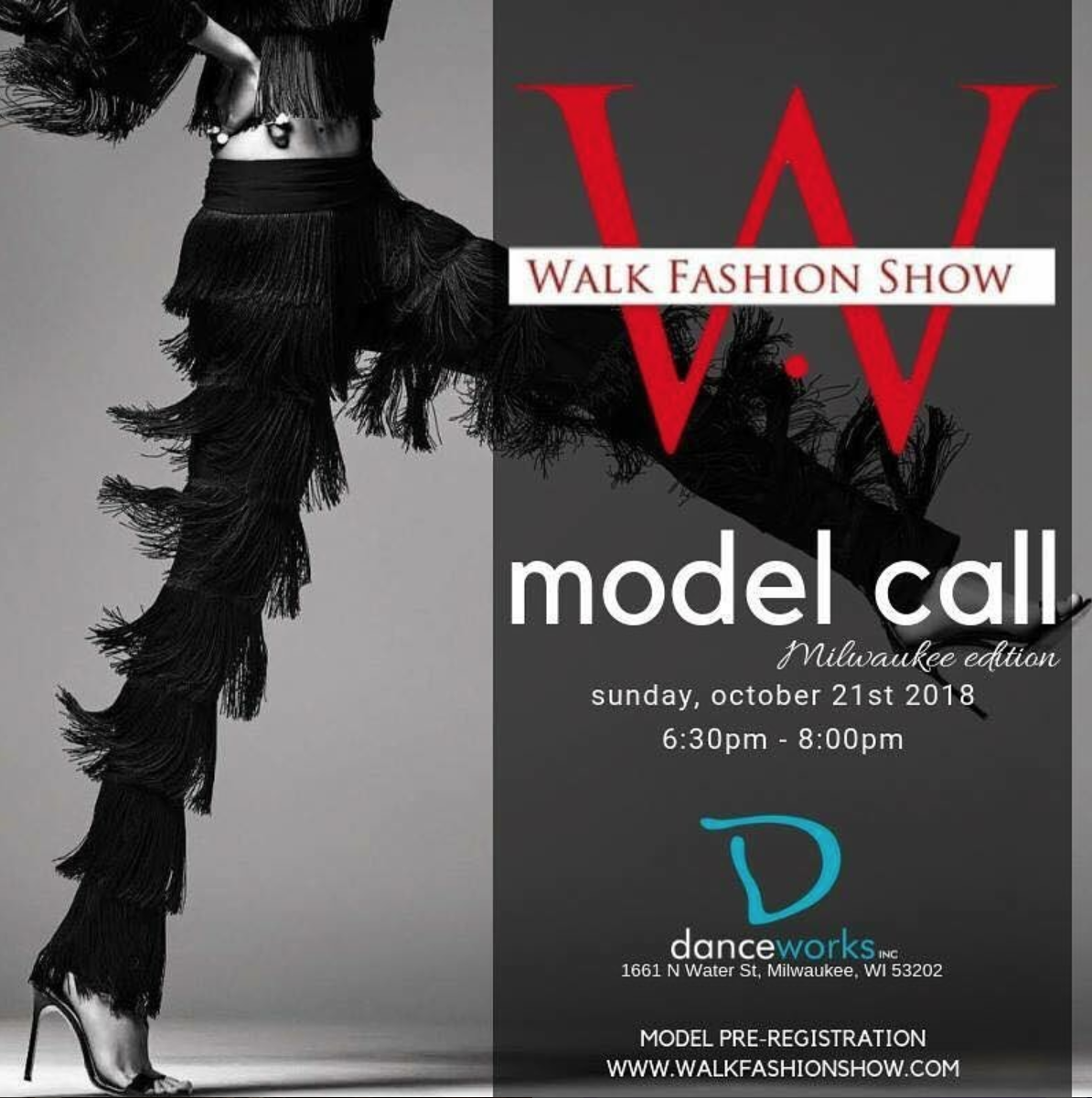 walk fashion show model call milwaukee