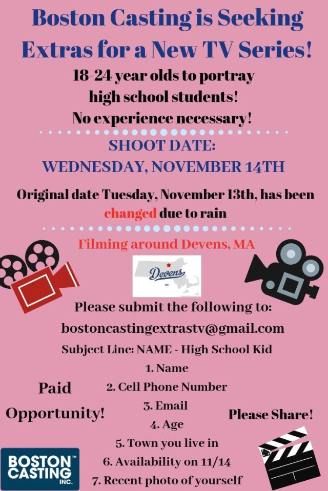 Boston casting tv series devens