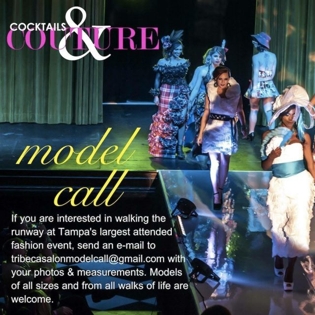 Model casting call for Cocktails and Couture Tampa Bay
