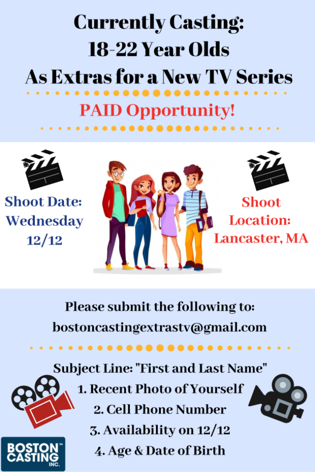 BOSTON CASTING ACTORS NEW TV SERIES
