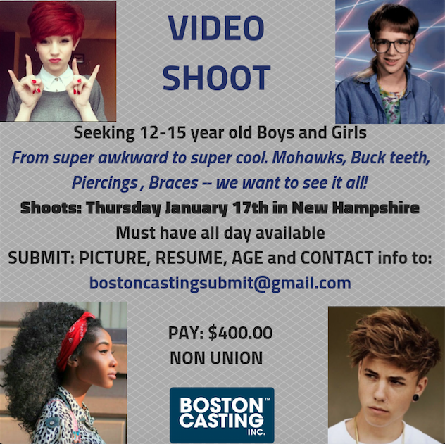 boston casting teens
