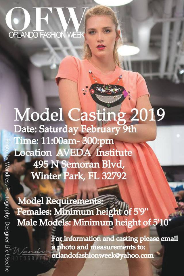 orlando fashion week model casting call