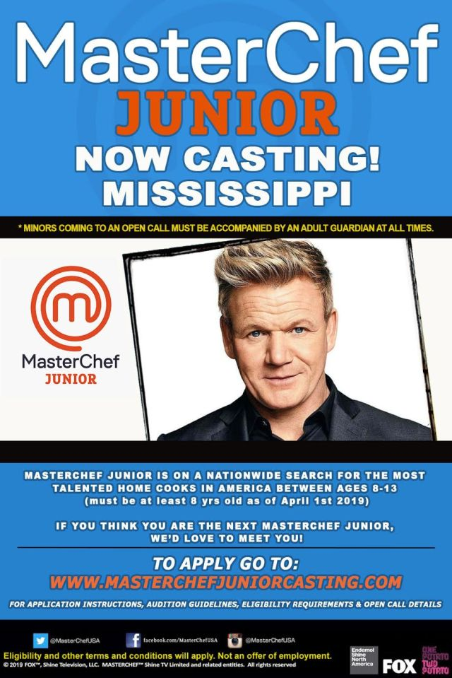 master chef junior mississippi casting calls