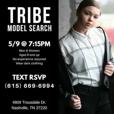 Tribe Talent Model Search Nashville Casting Call